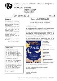 09. juni 2011 nr.18 - Rudolf Steiner Schule in den Walddörfern
