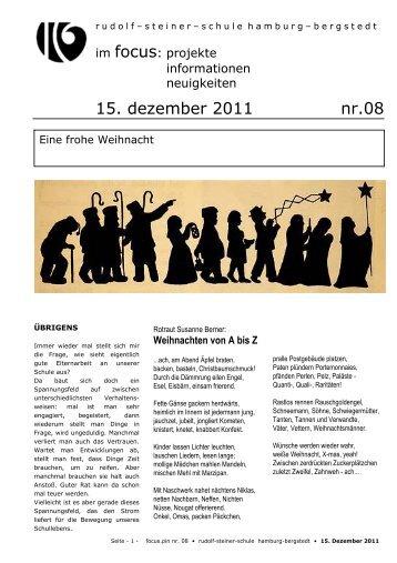 15. dezember 2011 nr.08 - Rudolf Steiner Schule in den Walddörfern