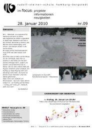 28. januar 2010 nr.09 - Rudolf Steiner Schule in den Walddörfern