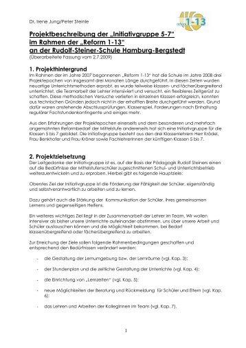 """Projektbeschreibung der """"Initiativgruppe 5-7"""" - Rudolf Steiner ..."""