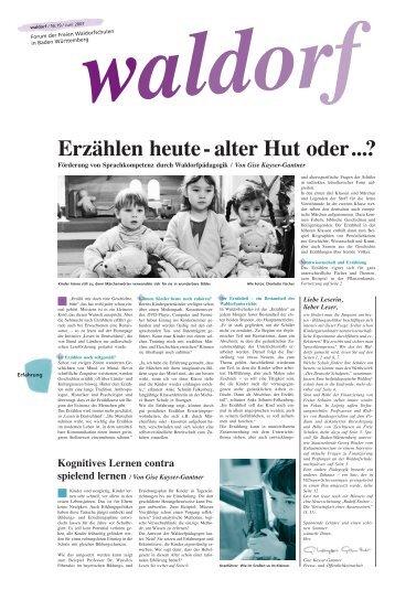 Erzählung (download) - Rudolf Steiner Schule in den Walddörfern