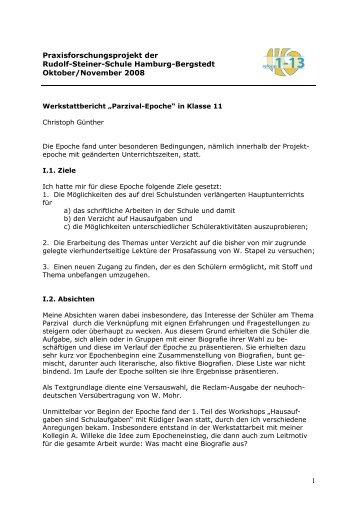 Parzival-Epoche in Klasse 11 - Rudolf Steiner Schule in den ...