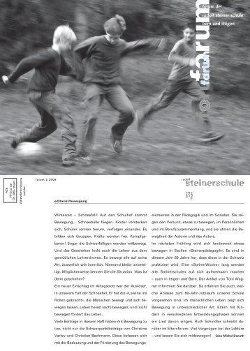 Forum 2_Umbruch.indd - Rudolf Steiner Schule Bern und Ittigen