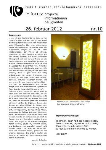26. februar 2012 nr.10 - Rudolf Steiner Schule in den Walddörfern