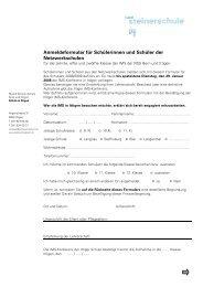 Anmeldeformular für Schülerinnen und Schüler der Netzwerkschulen