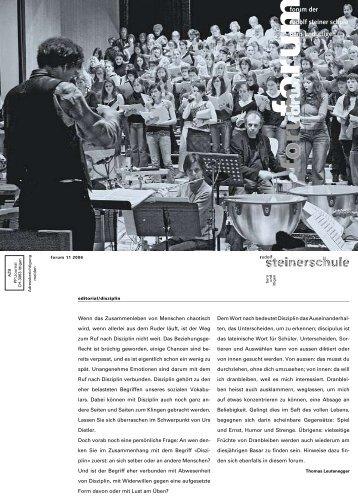 Forum 11_2006.ps - Rudolf Steiner Schule Bern und Ittigen