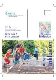 Programm Inklusion III Symposium 2013 - Rudolf Steiner Schulen ...