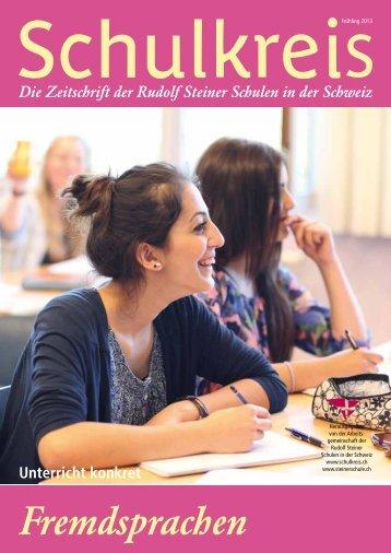 Schulkreis lesen - Rudolf Steiner Schulen der Schweiz