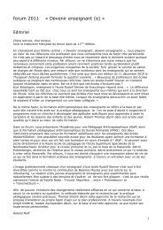 Forum 2011 - Rudolf Steiner Schulen der Schweiz