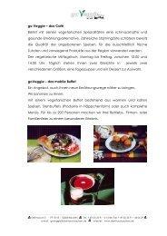 go Veggie – das Café Bietet mit seinen vegetarischen Spezialitäten ...