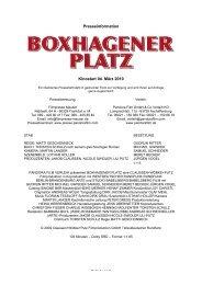 Boxhagener Platz Presseheft - Steinhaus Bautzen