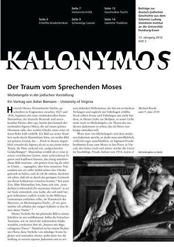 Der Traum vom Sprechenden Moses - Salomon Ludwig Steinheim ...