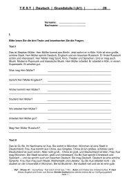 T E S T  | Deutsch | Grundstufe I (A1) | , . .20 - Steinke-Institut