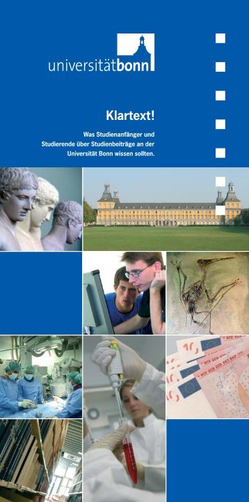 Klartext! - Universität Bonn