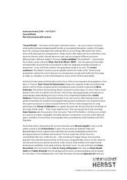 steirischer herbst 23/09 – 16/10/2011 Second Worlds Real and ...