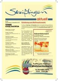 Das Mitteilungsblatt zum Herunterladen - Steißlingen