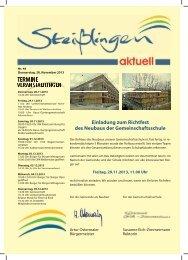 Einladung zum Richtfest des Neubaus der Gemeinschaftsschule ...