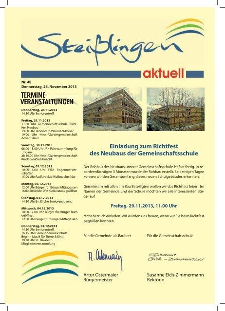 Extrem Einladung zum Richtfest des Neubaus der Gemeinschaftsschule ZL93