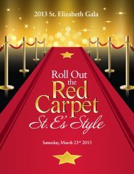 Gala 2013 Program - Saint Elizabeth Catholic School