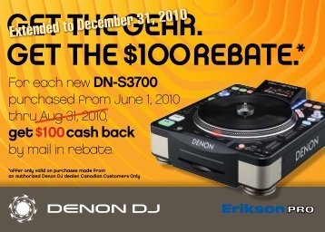 GEt thE GEaR. GEt thE $100 REbatE.* - Erikson Pro