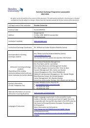 Factsheet Exchange Programme Leeuwarden 2013-2014