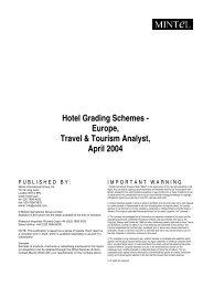 Hotel Grading Schemes - Europe, Travel & Tourism Analyst, April 2004