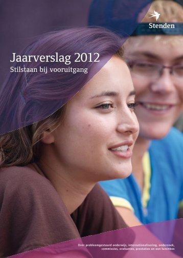 Jaarverslag 2012 - Stenden Hogeschool