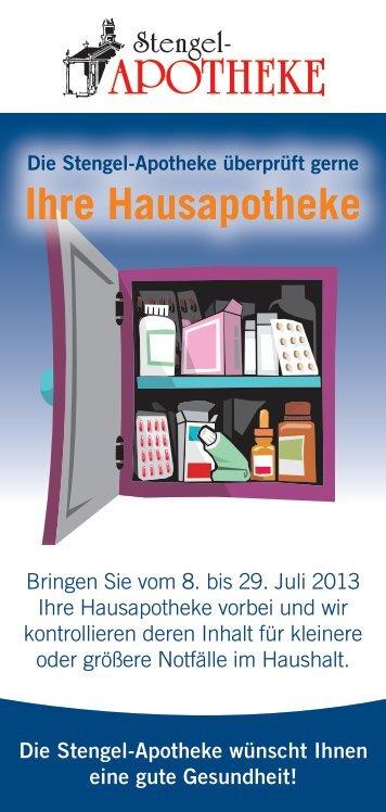 Info-Flyer Hausapotheke 2013 zum Ausdrucken