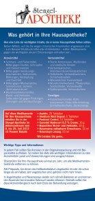 Info-Flyer Hausapotheke 2013 zum Ausdrucken - Seite 2