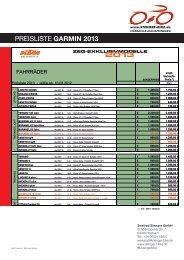 KTM ZEG Sondermodelle Preisliste 2013 - Zweirad Stenger