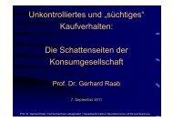"""Unkontrolliertes und """"süchtiges"""" Kaufverhalten: Di ... - STEP Hannover"""
