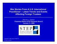 Latest Trends and Events Affecting Foreign Trustees - STEP