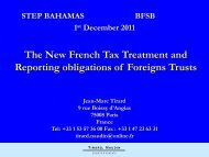 The new French tax treatment and reporting obligations of ... - STEP
