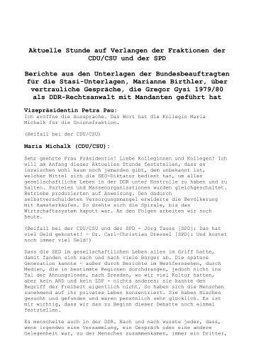 Aktuelle Stunde auf Verlangen der Fraktionen der ... - Stephan Eisel