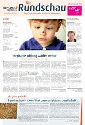 Rundschau 3/2013 - Stephanus-Stiftung