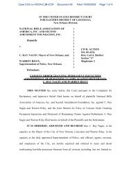 Permanent Injunction - Stephen Halbrook