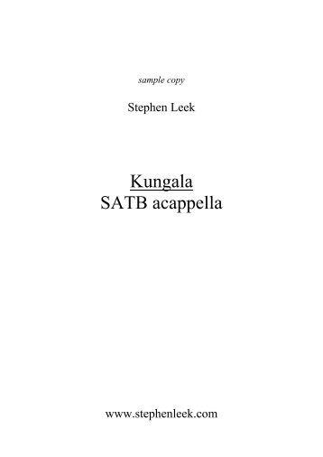 Kungala SATB - Stephen Leek