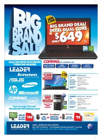 Leader Computers Catalogue August - Easy Internet Services!!!
