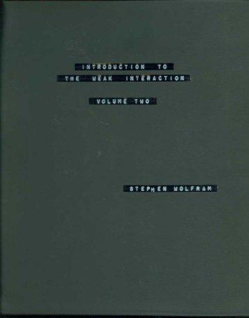 Volume 2 - Stephen Wolfram