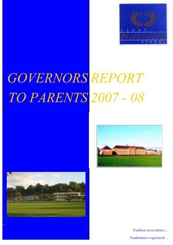 Governors' Report 2008