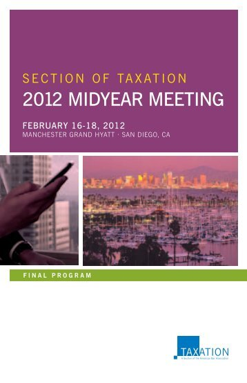Section Of taxation 2012 Midyear Meeting - Steptoe & Johnson LLP