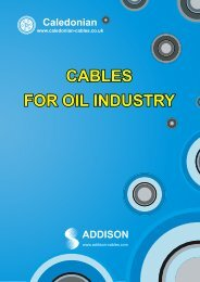 CABLES FOR OIL INDUSTRY