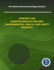 NNI Environmental, Health, and Safety Research Strategy - National ...