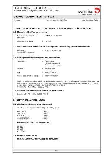 LEMON FRESH 737409-SDS-4.pdf - Stera Chemicals