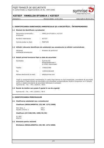 VANILIE 427337-SDS-4.pdf - Stera Chemicals