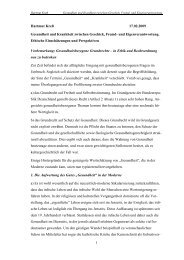 1 Hartmut Kreß 17.02.2009 Gesundheit und Krankheit zwischen ...