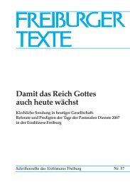Freiburger Texte 57 - Erzbistum Freiburg