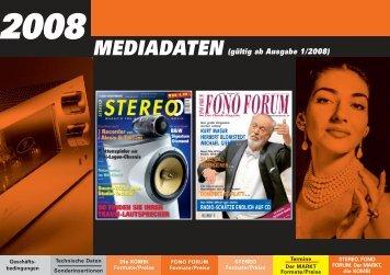 Formate/Preise - Stereo