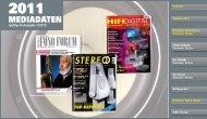 Mediadaten 2011 - Stereo