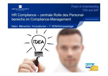 HR Compliance – zentrale Rolle des Personal- bereichs im ... - Steria